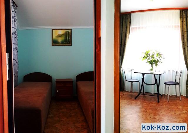 Двухкомнатный номер в отеле Кок-Коз Судак