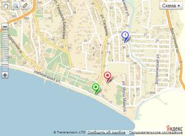 Отель Кок-Коз на карте города Судак